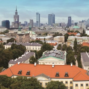 Historical Main Campus of the UW and the panorama of Warsaw, fot. Miron Bogacki