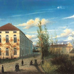 Warszawy/Marcin Zaleski, The view of the Auditorium Pavilion, canvas, The Historical Museum of Warsaw