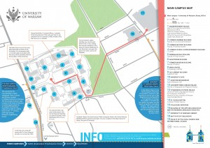 Main campus map, page 1