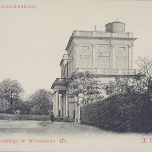 Astronomical Observatory at the beginning of 20th century, postcard, The Ephemera Departament, UWL