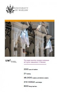 University of Warsaw, summary, 2016 - cover