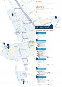 Recidence Halls - map