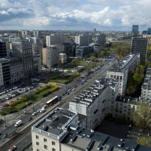 One of the main streets in Warsaw - Marszałkowska Street.