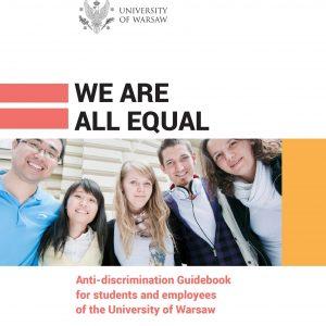 Anti-discrimination Guidebook: http://www.rownowazni.uw.edu.pl/wp-content/uploads/2017/12/podrecznik-rownowazni-wklad-eng-elektro-1.pdf
