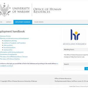 Employment handbook: http://en.bsp.adm.uw.edu.pl/employment-handbook/