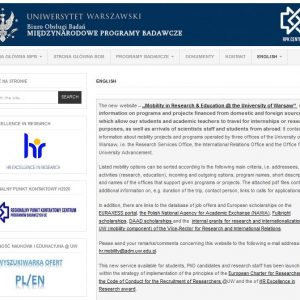 Research Services Office: bob-epb.uw.edu.pl/english