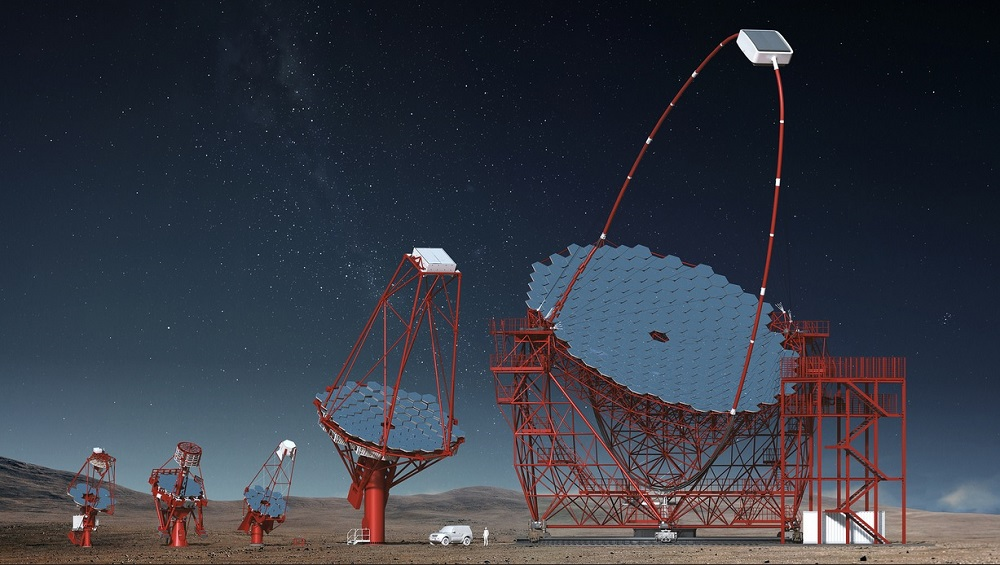 Visual image of Cherenkov Telescope Array in Chile