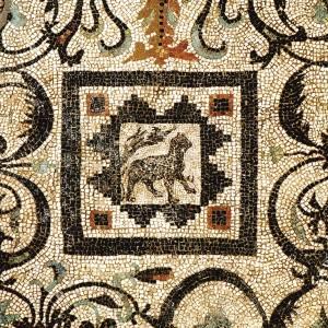 A mosaic from the Villa of the Birds. Photo: W. Jerke/PCMA UW