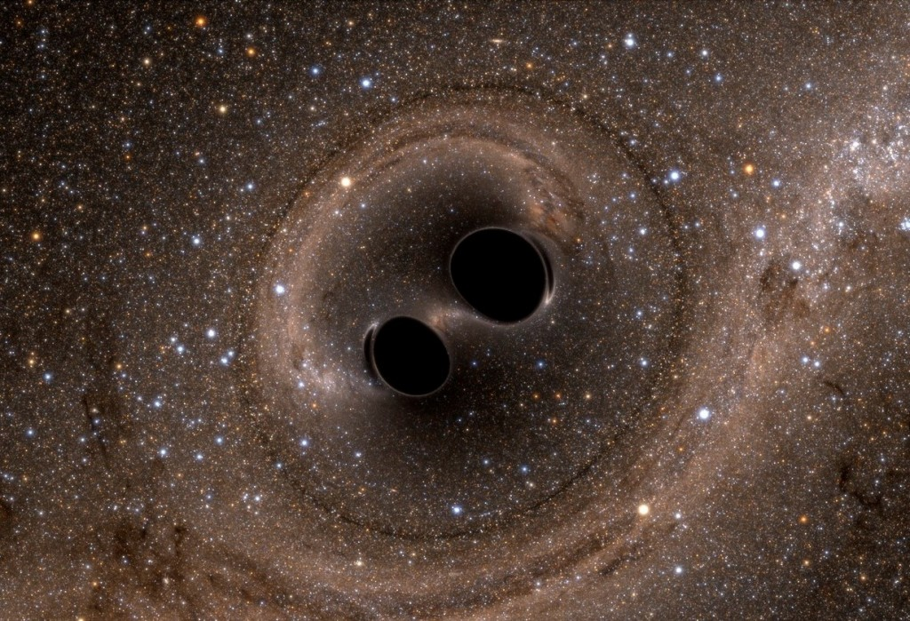 Visual image of the discovery of gravitational waves