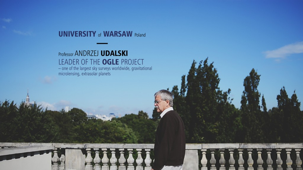 Movie about ERC grant for Professor Andrzej Udalski (open in a new window)