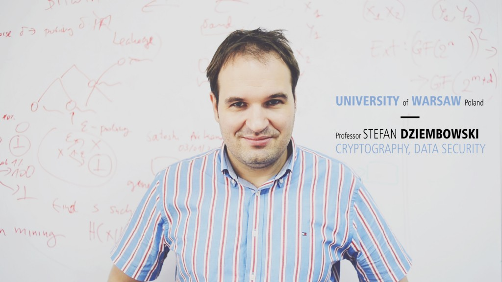Movie about ERC grant for Professor S.Dziembowski (open in a new window)