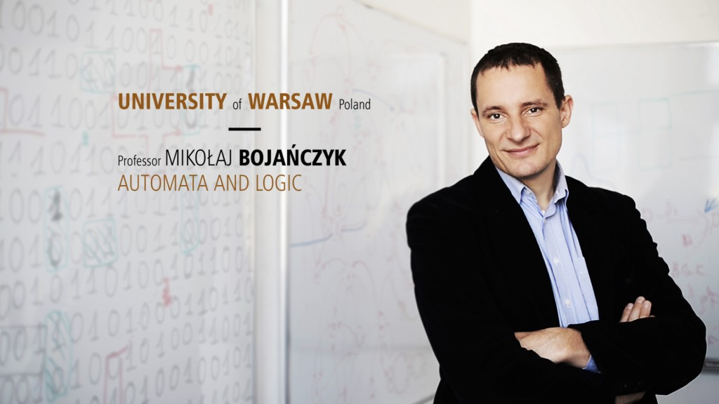 Movie about ERC grant for Professor M. Bojańczyk (open in a new window)