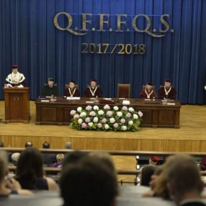 The ceremony of inauguration a new academic year.