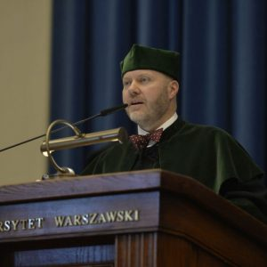 Assist. Prof. Marcin Zych from the University of Warsaw Botanic Garden delivered the first lecture in this academic year concerning the intimate life of plants and its influence on people's well-being.
