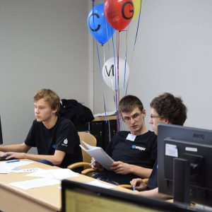 The team from the University of Warsaw during the contest. Credit: http://tiny.pl/gp63q