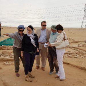 Polish Ambassador visiting the Bahra 1 site. Photo A.Szymczak
