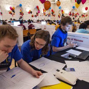 The UW team at the ICPC world finals. Credit: Randy Piland/icpcnews.com