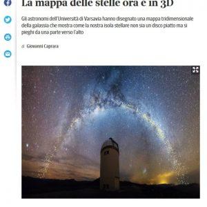 Italy, Corriere Della Sera: https://www.corriere.it/cronache/19_agosto_02/fascino-ricurvo-via-lattea-mappa-stelle-ora-3d-8469620a-b564-11e9-8f02-33360bc8762b.shtml