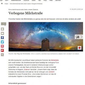Germany, Der Tagesspiel: https://www.tagesspiegel.de/wissen/eine-dreidimensionale-karte-unserer-galaxie-verbogene-milchstrasse/24861868.html
