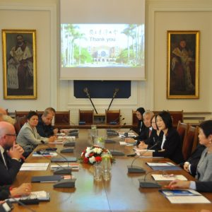 The delegation from Taiwan visited the University of Warsaw.