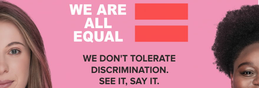 "The ""We are all equal"" campaign"