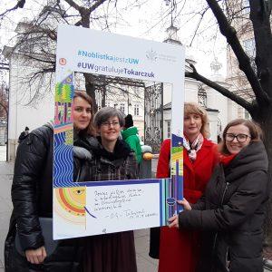 Magdalena Kleszczewska, Office for International Research and Liaison; Anna Wołodko, University of Warsaw Library; Anna Korzekwa-Józefowicz and Katarzyna Bieńko, Press Office