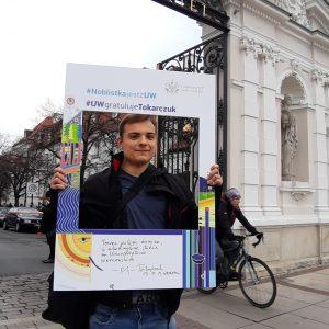 Karol Szymański, student of the Faculty of Biology