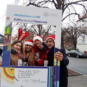 Anna Linkiewicz, Laura Zielezińska, Michał Kucharski and Krzysztof Andrukowicz, students of the Faculty of Law ana Administration
