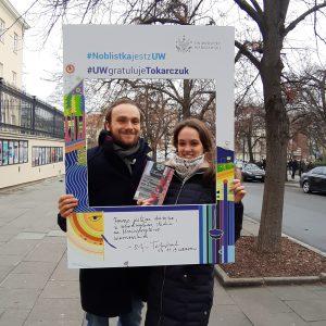 Karolina Maszkiewicz and Jakub Majchrzak, students of the Faculty of Geography and Regional Studies