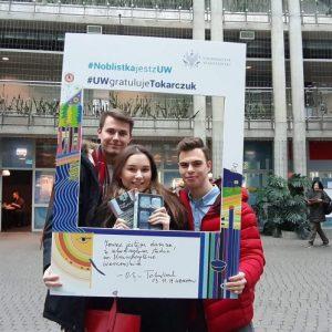 Inga Grela, Aleksander Torosiewicz and Damian Łysiak, students of Faculty of Law and Administration