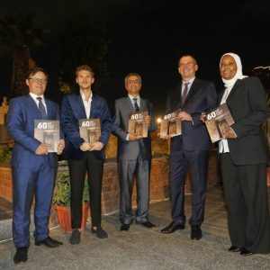 """The opening of the exhibition """"60 Years of the Research Centre in Cairo"""". Credit: M. Jawornicki"""