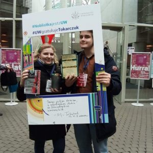 Katsiaryna Nenartovich and Julian Bień, students of Faculty of Law and Administration