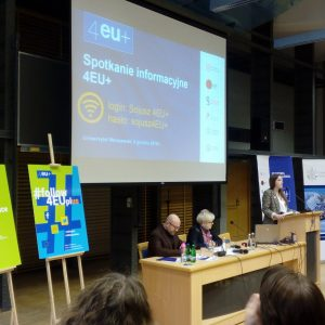 4EU+ information meeting at the University of Warsaw.