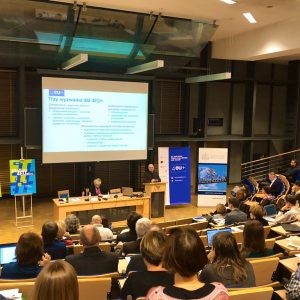 4EU+ information meeting at the University of Warsaw. Credit: Twiter account of Dr. Kinga Torbicka.