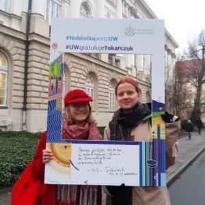Martyna Stępień and Maria Benton, students