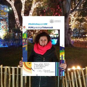 Anna Zagrajek, UW graphic designer, author of the frame project