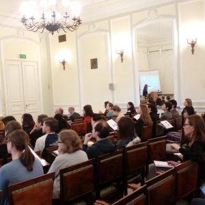 """Memory in Conflict"" winter school at the University of Warsaw."