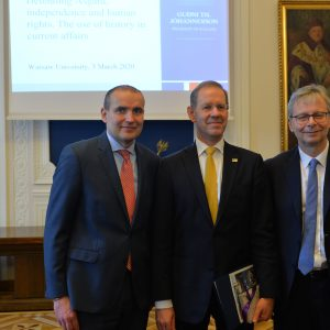 Visit of the President of Iceland to the UW