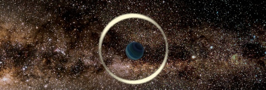 An artist's impression of a gravitational microlensing event by a free-floating planet. Credit: Jan Skowron / Astronomical Observatory, University of Warsaw.