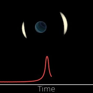 Changes of brightness of the observed star during the gravitational microlensing event by a free-floating planet. Credit: Jan Skowron / Astronomical Observatory, University of Warsaw.