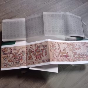 An international team of academics — led by Prof. Katarzyna Mikulska from the UW Faculty of Modern Languages — present a scientific publication of this pre-Columbian document, kept at the Vatican Library. Credit: Prof. K. Mikulska's archives