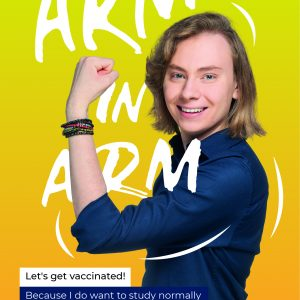 """Posters being part of the """"Arm in arm"""" campaign."""