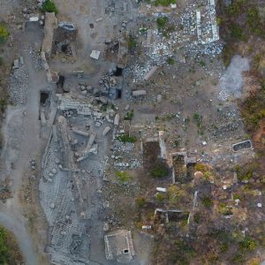 Top view of the site at the end of the 2021 season (photo M. Mackiewicz/ Polish Centre of Mediterranean Archaeology University of Warsaw)